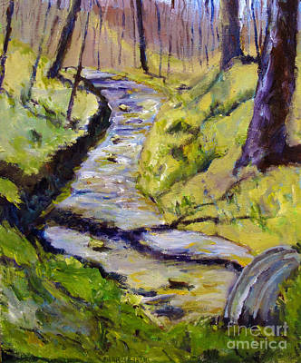 Pissaro Painting - Spring Creek Run by Charlie Spear