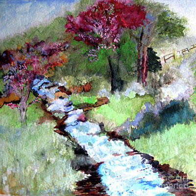 Painting - Spring Creek by Sandy McIntire