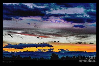 Digital Art - Spring Creek Sunset by Deborah Nakano
