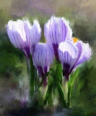 Digital Art - Spring Crocus by Johanne Dauphinais