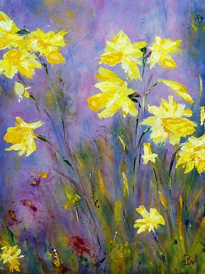 Print featuring the painting Spring Daffodils by Claire Bull