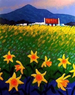 Daffodils Painting - Spring Daffs  Sugar Loaf County Wicklow by John  Nolan