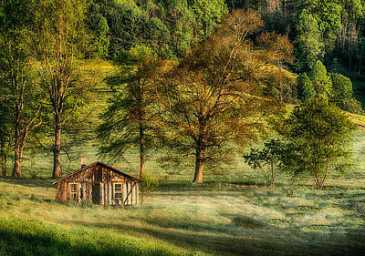 Abandoned Cabins Smoky Mountains Wall Art - Photograph - Spring Dawn On The Mountain by John Kimball