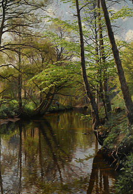 Painting - Spring Day At Saeby by Peder Monsted