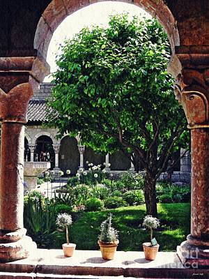 Spring Day At The Cloisters 2 Art Print