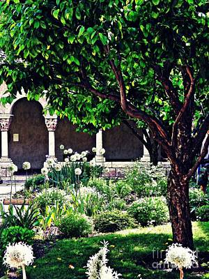 Spring Day At The Cloisters 3 Art Print