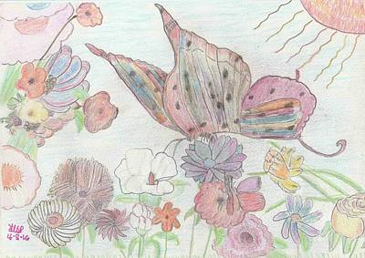 Sunny Day Drawing - Spring Day by Heather Parsons