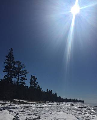 Photograph - Spring Day Lake Superior by Paula Brown