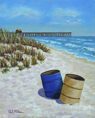 Painting - Spring Day On The Beach by Val Miller