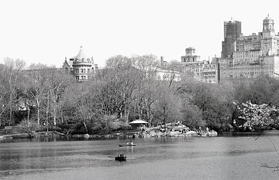 Photograph - Spring Day In Central Park In Black And White by Living Color Photography Lorraine Lynch