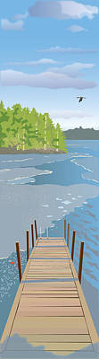 Wall Art - Painting - Spring Dock by Marian Federspiel