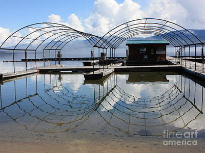 Photograph - Spring Docks On Priest Lake by Carol Groenen