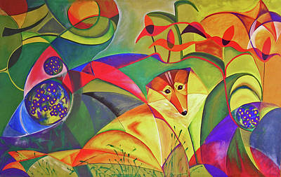 Susann Serfezi Painting - Spring Dog by AugenWerk Susann Serfezi