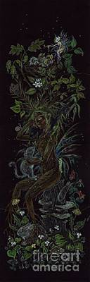 Drawing - Spring Dryad by Dawn Fairies