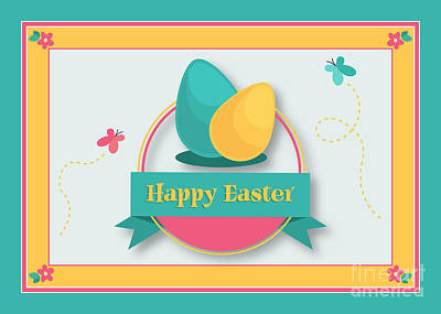 Digital Art - Spring Easter by JH Designs