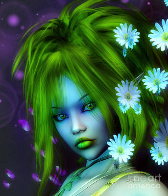 Digital Art - Spring Elf by Jutta Maria Pusl