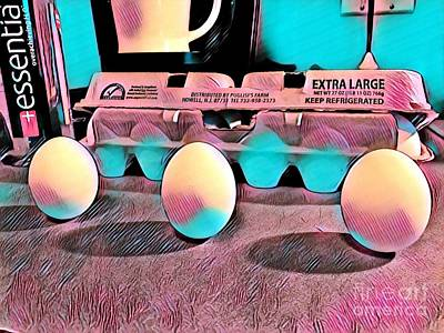 Photograph - Spring Equinox Eggs by Susan Carella