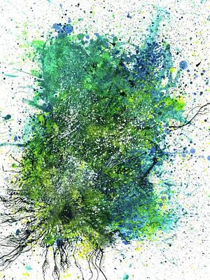Brain Painting - Spring Equinox In The Lost Land Of Mu #526 by Rainbow Artist Orlando L aka Kevin Orlando Lau