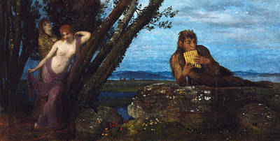 Pan Painting - Spring Evening  by Arnold Bocklin