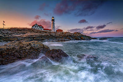 Photograph - Spring Evening At Portland Head Lighthouse by Rick Berk