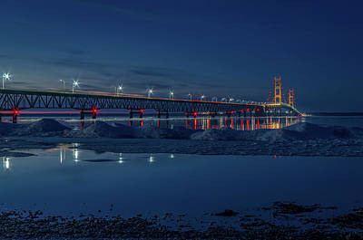 Photograph - Spring Evening At The Mackinac Bridge by Gary McCormick