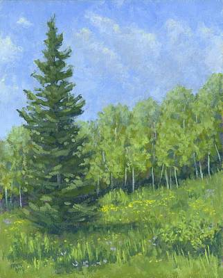 Painting - Spring Evergreen by David King
