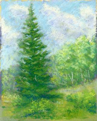 Painting - Spring Evergreen Study by David King