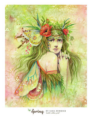 Painting - Spring Fairy Limited Edition  by Sara Burrier