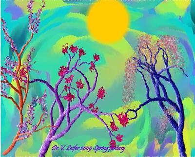 Spring Fantasy Art Print by Dr Loifer Vladimir