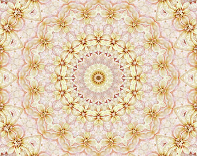 Digital Art - Spring Fantasy Floral Mandala by Janusian Gallery