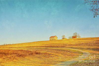 Alone Digital Art - Spring Farm And Fields by Randy Steele