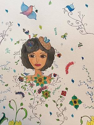 Spring Fever Art Print by Lorna Lowe