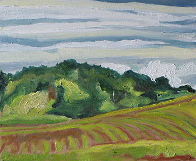 Eastern Townships Painting - Spring Field by Francois Fournier