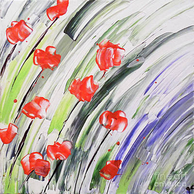 Abstract Handbag Painting - Spring Fling by Jilian Cramb - AMothersFineArt