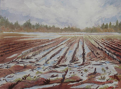 Willamette Valley Painting - Spring Flood by Jenny Armitage