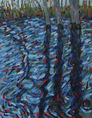Painting - Spring Flood Reflections by Phil Chadwick