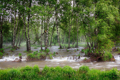 Photograph - Spring Floodwaters. Altai by Victor Kovchin