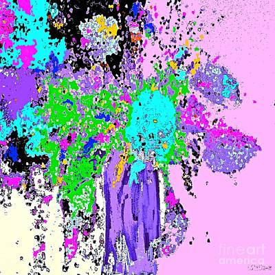 Painting - Spring Floral Bouquet Abstract by Saundra Myles