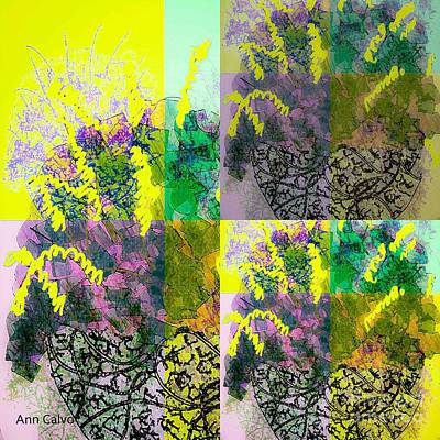 Mixed Media - Spring Floral by Ann Calvo
