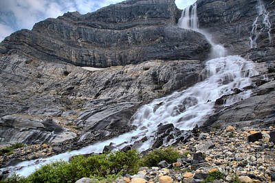 Photograph - Spring Flow At Bow Glacier Falls by Adam Jewell