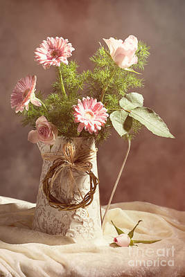 Asters Photograph - Spring Flower Arrangement  by Amanda Elwell