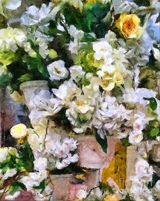 Mixed Media - Spring Flower Arrangements by Olga Hamilton