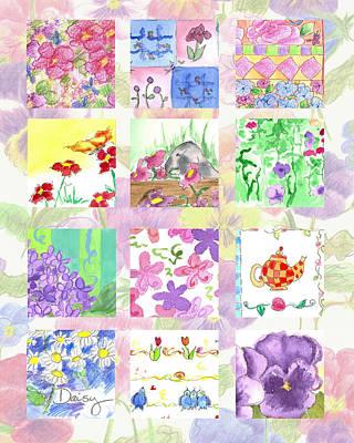 Painting - Spring Flower Sampler  by Cathie Richardson