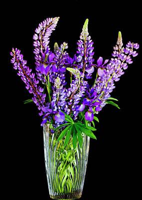 Photograph - Spring Flower Vase by Alan L Graham