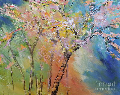 Photograph - Spring Flowering Trees by Jodie Marie Anne Richardson Traugott          aka jm-ART