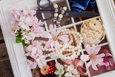 Spring Flowers Box Art Print by Anastasy Yarmolovich