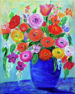 Painting - Spring Flowers by Haleh Mahbod
