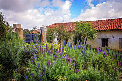 Photograph - Spring Flowers In The Carmel Mission Garden by Lynn Bauer