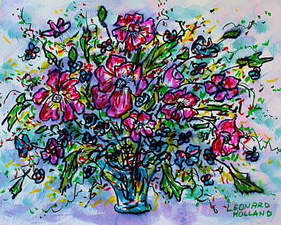 Painting - Spring Flowers by Leonard Holland