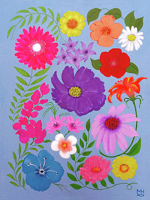 Painting - Spring Flowers by Marilyn Hilliard